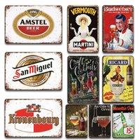 Rétro Métal Ricard Orval Affiche Cocktail Beer Plaques en Métal Store Restaurant Bar Panneaux muraux Plaques décoratives Affiche de publicité