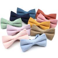 스웨이드 나비 넥타이 솔리드 컬러 부드러운 클래식 셔츠 Bowtie Bowknot 웨딩 크리스마스 선물에 대 한 성인 아이 성인 자식 나비 cravats