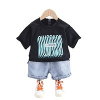 Summer Baby Boys Clothes Suit Children Girls Fashion Cotton T-Shirt Shorts 2Pcs Sets Toddler Casual Costume Kids Tracksuits Clothing Sets