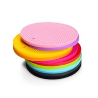 Multi-Functional Silicone Heat Insulation Non Slip Coaster Mat Kitchen Dining Table Decoration Round Pads Tool CCF7773