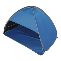 Tents And Shelters Waterproof Foldable Camping Hiking With Mobile Phone Stand Windproof Portable Automatic Shade Tent Fishing Beach Sun Shel