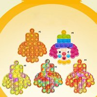 Clown Push Bubble Sensory Fidget Toy Stress Relief Desktop Puzzle Squeeze Decompression Toys for Child Anti-Stress Rainbow Colorful Fidgets Reliver DHL