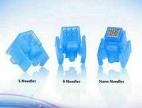 Substituição 5/9 / Nano Pin Microneedle Cartucho Dicas Micro Agulha para Meso Mesomoterapia Injeção da Pele Anti Anti Anti Cabelo Revestimento Remova o levantamento facial