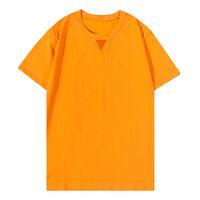 여름 남성 티 커플 셔츠 O 넥 코튼 짧은 소매 아플리케 캐주얼 스웨터 패턴 패션 Streetwear 3 색 크기 S-XXL