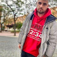 Rrr-123 Kirin Arm Letter Printed High Street Washed and Used Oversize Fleece Hoodie