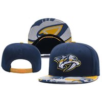 New Caps Nashville Predators Hóquei Snapback bonés Azul Cor Tampão Team Hats Mix Match Order Todos os Caps Top Quality Hat