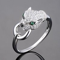 Cluster Rings Creative Domineering Panther Head Ring Personality Charm Gift Woman Fashion Temperament Party Jewelry Wholesale