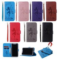 7Plus für 6 x 8 PU-Geldbörse iPhone 2 in 1 kleinen Girl-Kartenständer mit Case-Beutel-Schlitzhalter Tragbare Strap-Abdeckung FL5A 7 6plus I Dphjf