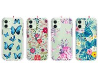 Flower Hybrid Hard Cases For Iphone 12 MINI PRO MAX 7 8 SE2 Ipod Touch 5 6 MOTO E G Play 2021 Power Shockproof Butterfly Clear TPU PC Bumper Phone Cover Luxury