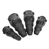 4 PCS Motocicleta Protectora Ciclismo Codo y rodilleras Equipo protector Protector Guardias Armoras Armaduras Conjunto Conjunto Engranajes Race Brace Black