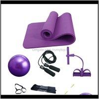 Mats FourPiece Traje 25 cm Pilates Ball 10mm Yoga Mat Tension Dispositivo de tensión y saltando la cuerda AR9MO 1EGZB