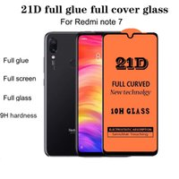 Protectores de pantalla de telefonía celular 21D Guino completo de vidrio templado Guardia Curved Premium L Película Protector de cobertura para iPhone / Xiaomi / Redmi Note / Samsung / Huawei