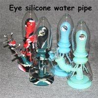Silicone Bongs mini water pipe shisha hookah Bong tobacco hand pipes With Glass Bowl dab rigs