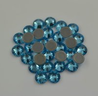 DMC Aquamarine One Pack SS6-SS30 Glaskristall Flatback Rhinestones Beste Diamant Hotfix Strasssteine für Kleidungsstück