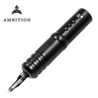 Ehrgeiz Hohe Qualität Wireless Tattoo Pen Machine 1800mAh Lithium Batterie Stromversorgung LED Digitalanzeige Ausrüstung Guns Kits