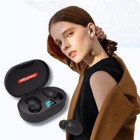 New E6s TWS Smart Digital Display Bluetooth Headset Wireless Sports Mini Headset Stereo in-Ear HIFI IPX4 Waterproof