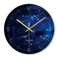 Wall Clocks Cendy Minimalist Ultra-thin Glass Clock Modern Novelty Maths Equation Quartz Home Decor Relogio De Parede