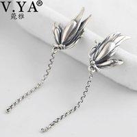 V.YA Vintage S925 Sterling Silber Schmetterling Ohrringe Für Frauen Lange Quaste Ohrstecker Frauen Geschenk 210512
