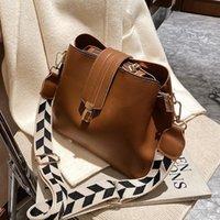 Evening Bags Vintage Simple Small PU Leather Bucket Crossbody For Women 2021 Designer Fashion Lady Luxury Black Shoulder Handbags