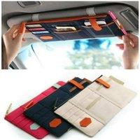 Bil Sun Visor Point Pocket Card Storage CD-hållare Arrangör påse Bag 5 Färger 29 x 14,5cm Väskor