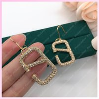 Women Earings Designer Diamond Jewelry Fashion Accessories V Letter Womens Designers Earrings Studs Earrings Boucles With Box 2107281L