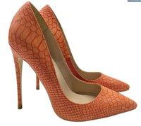 붉은 바닥 여성 하이힐 신발 뾰족한 발가락 벨벳 펌프 Stiletto 뒤꿈치 Deerskin 얕은 단일 입 - 결혼식 구두 높이 8 \ 10 \ 12cm 큰 작은 크기 EURO34-45 로고