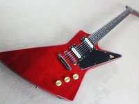 Shaped electric guitar clear wine red rose wood fingerboard