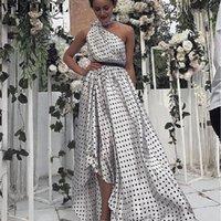 섹시한 드레스 여름 패션 민소매 폴카 도트 느슨한 한 숄더 여성 캐주얼 고삐 하이 테이스트 불규칙 드레스
