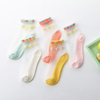 Socks 5 Pairs Baby Chrysanthemum No Show For Girls Summer Breathable Grip Children Crystal Infant Water