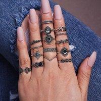 Cluster Ringen Retro Knuckle Ring 15 stks Set voor Vrouwen Luxe Boho Sieraden Gotische Accessoires Vintage Punk Memorial Day Gift Heks