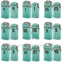2021 Jersey de basket-ball personnalisé Gordon Hayward Lamelo Ball Devonte Graham Terry Rozier Mint Green Hot Pressing Wholesale de haute qualité