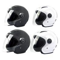 Motorcycle Helmets Electric Bicycle Helmet Open Face Clear Lens Visors Men Women Summer Scooter Motorbike Moto Bike