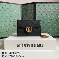 Gucci Designer Handtasche Luxurys Handtaschen Hohe Qualität Damen GG Kette Umhängetasche Patent Ledertasche Bag22201