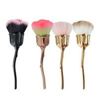 Makeup Brushes 1Pc Rose Flower Shape Blush Foundation Powder Make Up Women Cosmetics Nail Art Brush Soft Clean Dust Tools