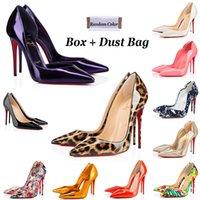Tacones de fondo rojo Zapatos de vestir de mujer Diseñadores de lujo So Kate High Heel 8cm 10 cm 12 cm con tamaño grande 35-44 Graffiti Point Toe Bombas Mocasines