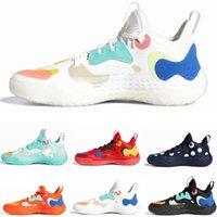 Le plus récent Futurenatural James Icy Pink Harden Vol.5 Chaussures de basket-ball pour hommes Fashion Core Black Polka Dot White Creator Support Sports Sneakers 40-46
