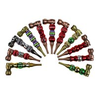 Skull Diamond beads smoking pipe With Cover Metal Tobacco Hand Burner Cigarette Filter Pipes 2 Styles Tools Accessories oil rigs