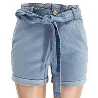 com cinto jeans algemas faixas slim cintura alta denim calças curtas lavadas jeans curtos novas mulheres curtas