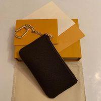 جودة مذهلة العديد من الألوان مفتاح الحقيبة الرمز البريدي المحفظة عملة جلدية حقيقية محافظ دميه ebene المرأة مصمم العلامة التجارية مصغرة بنات محفظة مربع