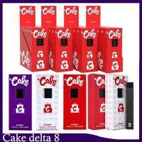 ¡¡¡En stock!!! Cake Delta 8 Dispositivo de cigarrillos Dispositivo de cigarrillos, gramo completo (1 ml) Capacidad Vacía POD recargable Vape Recargable Vape Pen 280mAh Batería para aceite grueso