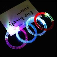 Tiktok LED Light Up Bubble Bangle Lights Flashing Bracelet Acrylic Beads Bracelets Wedding Party Outdoor Celebration Wristband Glow in Dark G56A6M3