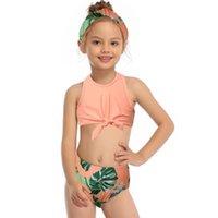 2-14 Jahre Teenager-Mädchen Badeanzug Kinder Floral Bikini Set Hohe Taille Zweiteilige Kinder Badebekleidung Rüschen Mädchen Badeanzug Einteilige Anzüge