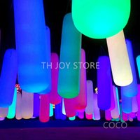 free air ship to door,(5pcs lot) 1.5mH hang up pvc led tube punch column, Party Decorations Inflatable lighting Pillar for ceiling