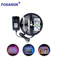 Foxanon 1 M LED luces de tira SMART IC SMD 2811 1903 30LEDS / M DC12V Luces de neón de RGB impermeable / de alimentación Tiras de control remoto