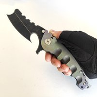 Limited Custom Version Heeter Knifeworks Man of War Heavy Folding Knife Black S35VN Flipper Titanium Knives Outdoor Equipment Tactical Camping Tools Perfect EDC