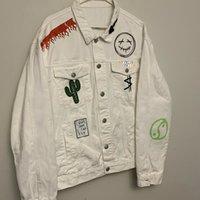 Giacche da uomo Designer Travis Scott Cactus Jack Jacket Sorriso Terra Bianco Denim Maniche lunghe Hip Hop maschio Abbigliamento uomo