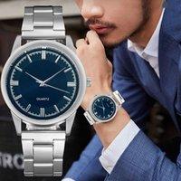 Nueva Moda Casual Para Hombre Relojes Deportivos Negocios Los Hombres Inoxidable Correa Malla de Acero Mira Una Simple