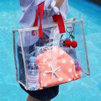 Femmes Femmes Sacs à bandoulière Plage Sac à main transparent Lady Clear Jelly Voyage Sacs à main de luxe Shopping Femme Haute Qualité