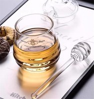 Honey Spoon Glass Honey Dipper Syrup Dispenser Stick 6 Inch Glass Honey Stick stirrer for Jar Kitchen Accessories gyq