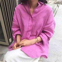 Superaen Свободные плюс-размеры льняной рубашки BF рубашка кардиган пальто асимметричные дна солнцезащитные женские вершины и блузки